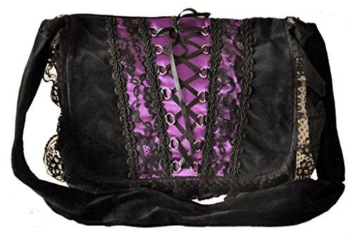 De Púrpura Universidad Vintage Hombro Del Del Negro Traje Bolsa Empeine Del La Renacimiento Punk Negro Gótico Victorian De Del ZUqpPp