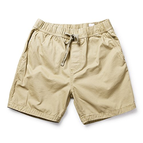 OCHENTA Men's Loose Fit Drawstring Twill Cargo Shorts Khaki Tag 4XL - US 40 by OCHENTA