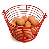 Rocky Mountain Goods Egg Basket - Soft Vinyl Coating to Prevent Shell Cracking - Holds up to 36 Eggs - Carrying Handle - Rust Proof Easy Rinse Heavy Duty Design