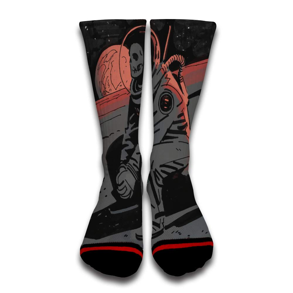 Dead Astronauts Homesick Crazy Novelty Custom Creative Sport 3D Printed Crew Socks
