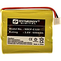 AT&T 2385 Cordless Phone Battery NI-CD, 3.6 Volt, 600 mAh, Ultra Hi-Capacity Battery - Replacement Battery for GE Rechargeable Cordless Phone Batteries