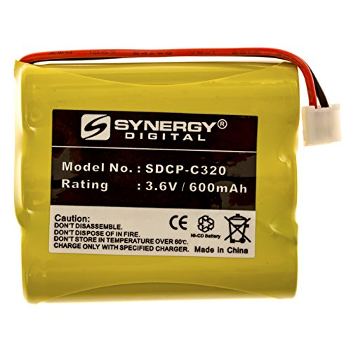 AT&T-Lucent 3301 Cordless Phone Battery NI-CD, 3.6 Volt, 600 mAh, Ultra Hi-Capacity Battery - Replacement Battery for GE Rechargeable Cordless Phone ()