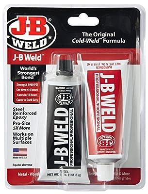 J-B Weld 8281 Professional Size Steel Reinforced Epoxy Twin Pack - 10 oz