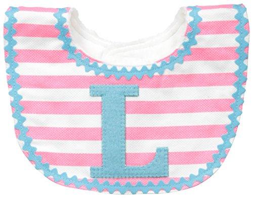 Mud Pie Baby-Girls Newborn L Girl Initial Bib, Pink, One Size