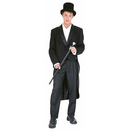 Hombre show smoking negro vestido para disfraz de carnaval ...