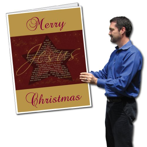 VictoryStore Jumbo Greeting Cards: Giant Christmas Card (Jesus), 2 feet x 3 feet Card with Envelope (Have We Lost The True Meaning Of Christmas)