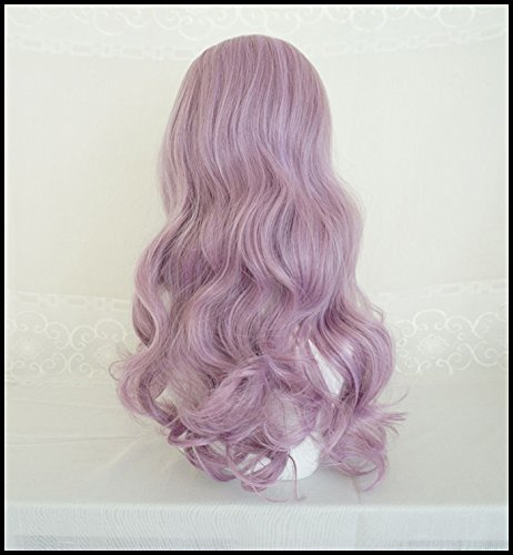 Generic Water Dance girls dream purple wig simulation scalp fringe of long curly hair and long hair fluffy big wave sets by Generic (Image #3)