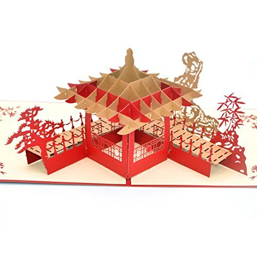 Medigy 3D Pop Up Greeting Cards Suzhou Gardens Blank Cards for Most Occastions -