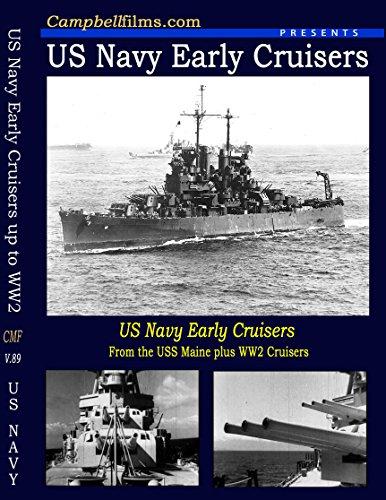 Early Navy Cruisers films WW1 WW2 Maine to Cleveland Class Pacific War WW2 SCO-3