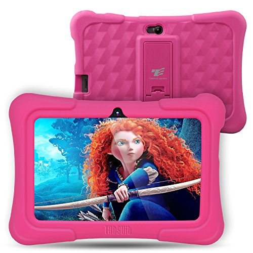 [Upgraded] Dragon Touch Y88X Plus Kids Tablet 7 inch Display Kidoz Pre-Installed with Disney Content (More Than $80 Value) (Android 7.1 OS) Pink (Best Tablet For Five Year Old)