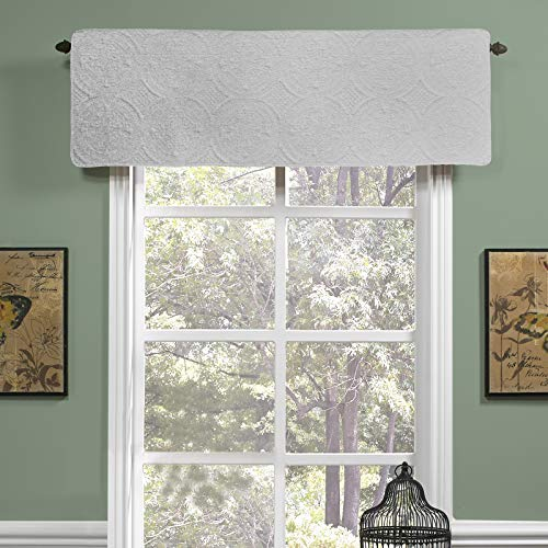 Donna Sharp Ana White Cotton Quilted Valance/Runner, Solid White