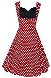 Lionstill Women's 50s Vintage Wrap Rockabilly Swing Dresses