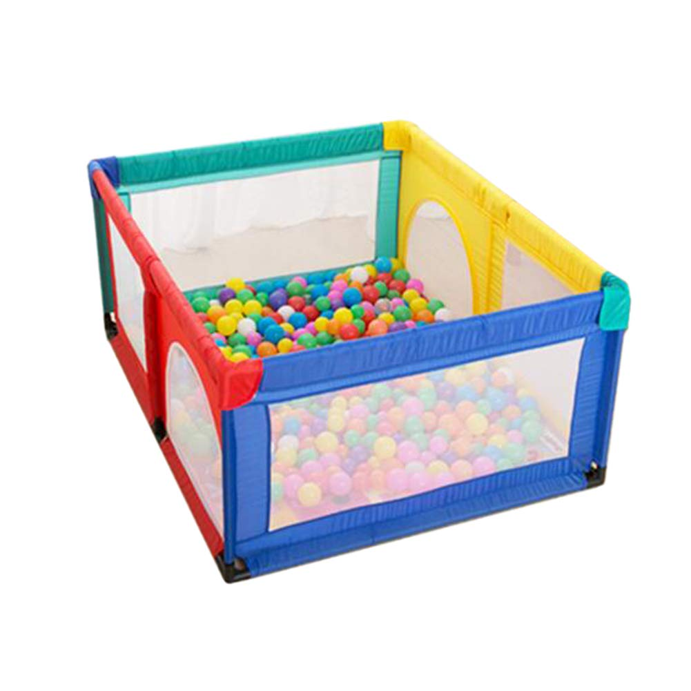Hulan Baby Fence with Crawling mat Portable Playground Suitable for Children Indoor Shatter-Resistant Game Fence, Multi-Color - 70cm high for 6-24 Months (Size : 120x150cm)