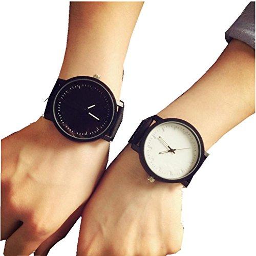 Hot Lovers Watch! AMA(TM) Unisex Men Women Quartz Analog Wrist Watches (Black)