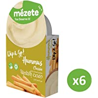 Mezete Hummus Classic with Bread Sticks - Snack Pack, Count 6 x 92 gm
