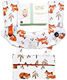 Drool and Teething Pad Sets for Baby Carriers - Ergobaby 360 - Reversible Cotton Bibs - Highly Absorbent Pads-4 pcs set- drool pad, 2 teething bibs, extra Pouch and a Bonus Bandana Bib for your baby