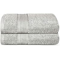 TRIDENT Soft and Plush, 100% Cotton, Highly Absorbent, Super Soft, Extra Large Bath Towel, 2 Piece Bath Sheet, 35 x 70…