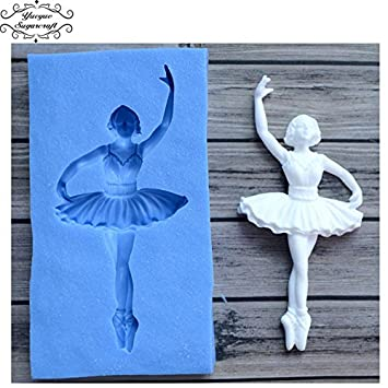 Ballerina Party Silikonform Fondant-Kuchen Topper: Amazon.de: Küche ...