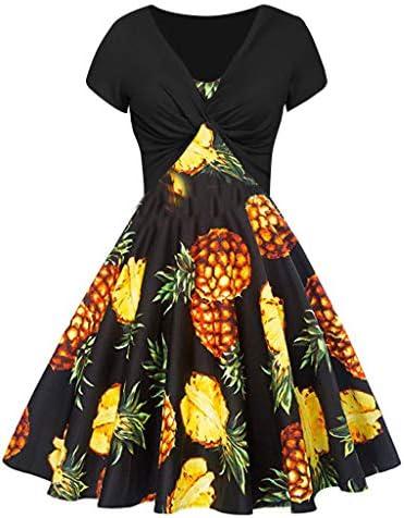 [해외]1920 Dresses for Women,Women`s Summer Pineapple Print Dress Sling Pullover Pullover Two-Piece Set / 1920 Dresses for Women,Women`s Summer Pineapple Print Dress Sling Pullover Pullover Two-Piece Set Black