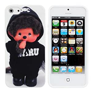 Cute Cartoon Baby Monkey Doll Pattern Cover Case For iPhone 5 5G