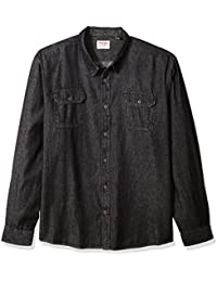 Men's Big and Tall Authentics Long Sleeve Classic Woven Shirt