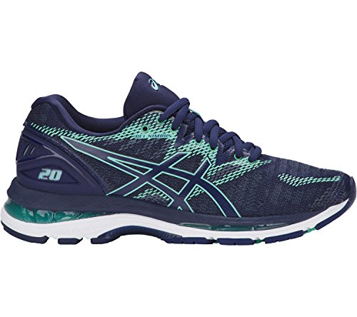 ASICS Women's Gel-Nimbus 20 Running Shoe, Indigo Blue/Indigo Blue/Opal Green, 6.5 Medium US