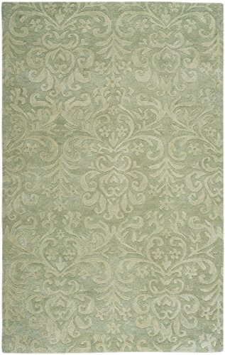Capel Rugs Williamsburg Lace 5' x 8' Hand Tufted Rug - Celadon ()