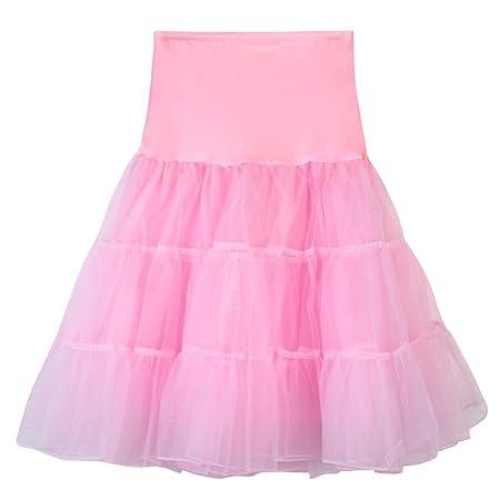 Falda para mujer con diseño retro de los años 50, por la rodilla ...