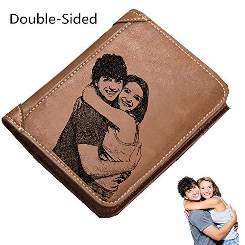 Portfolio Mini Embossed (Men's wallet personalized photo wallet men's gift boyfriend gift father's day gift)