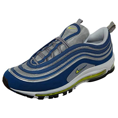 97 NIKE Herren Max Blue Air Voltage Silver Sneaker metallic Atlantic Blau Yellow aqatwdOZUx