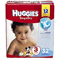 Huggies Snug and Dry Diapers - Size 3 - 32 ct