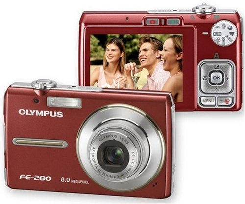 Olympus Fe 280 Red Digital Camera