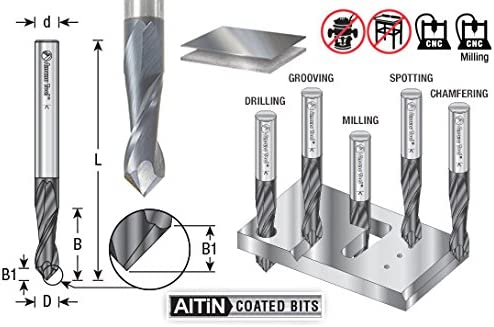 Amana Tool 51692 High Performance CNC Solid Carbide 90/° V Spiral Drills with AlT