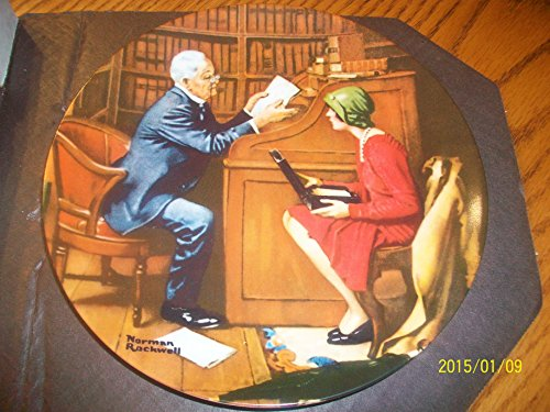 Norman Rockwell Collector Plate - The Professor ()
