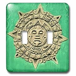 Danita Delimont - Mayan Culture - Guatemala, Antigua. Mayan calendar adorns facade - SA10 KWI0002 - Kymri Wilt - Light Switch Covers - double toggle switch (lsp_86536_2)