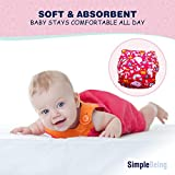 SimplyLife Home Pack of 6 for Girls - Reusable Baby