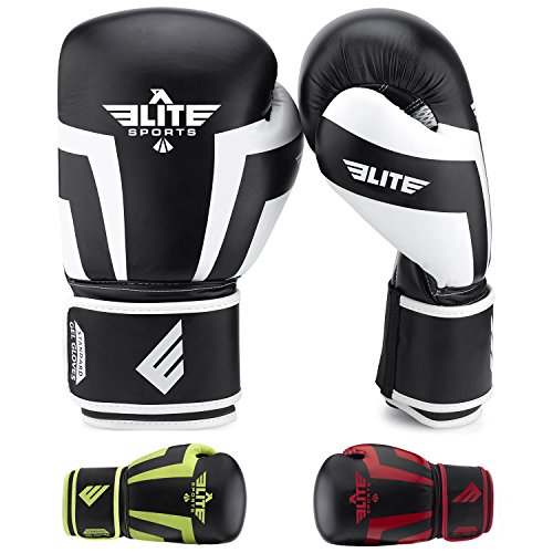 Elite Sports Standard Adult Boxing Gloves (White, 12 oz) (The Sport Of Boxing)