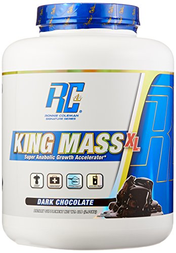 Ronnie Coleman Signature Series, King MASS-XL Super Anabolic Growth Accelerator, Dark Chocolate, 6 Pound