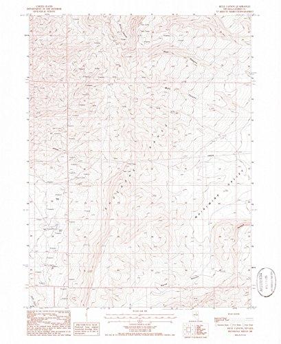 Nevada Maps | 1985 Mule Canyon, NV USGS Historical