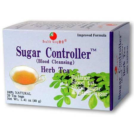 Health King Sugar Controller Herb Tea, Teabags, 20 Count Box