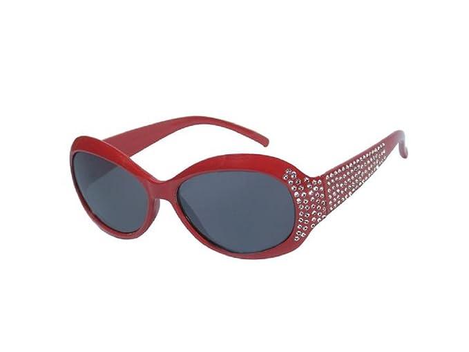 DanCarol - Gafas de sol - para niña rojo talla única: Amazon ...