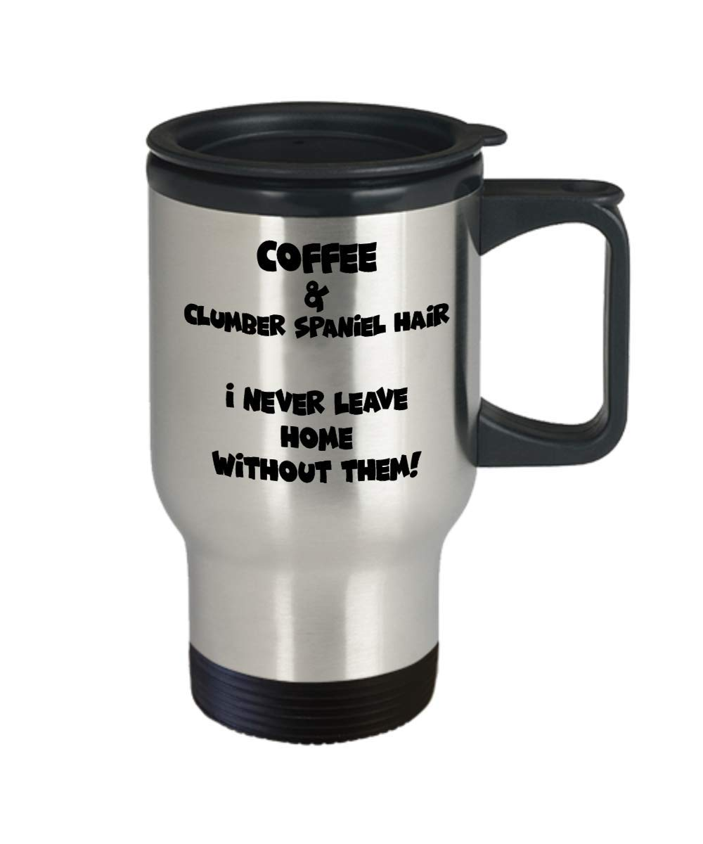 Clumber Spaniel Travel Mug - Funny And Cute Tea Coffee Cup - Perfect For Travel And Gifts 2