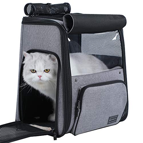Petsfit Good Ventilation Space Capsule Bubble Cat Backpack Carrier for Pets up to 18 Pounds