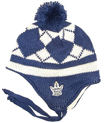 Reebok Toronto Maple Leafs Classic Tassle Knit Hat One Size Fits All (Knit Hat Maple Toronto Leafs)