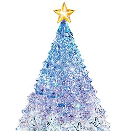 amazoncom thomas kinkade crystal tabletop christmas tree lights motion and music by the bradford exchange home kitchen - Christmas Tree Lights Amazon