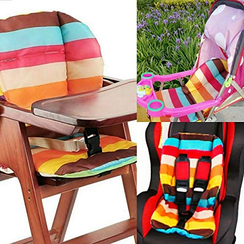 Niros High Chair Cover Pad Stroller Liner Car Seat Protector- Rainbow Stripe. ()