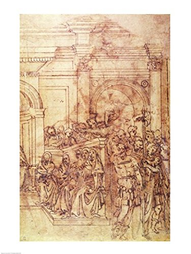 Posterazzi W.29 Sketch of a Crowd for a Classical Scene Poster Print by Michelangelo Buonarroti, (18 x 24) from Posterazzi