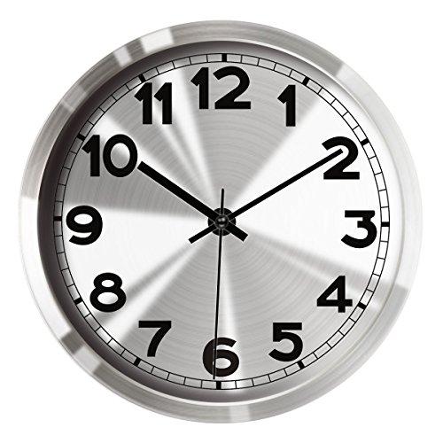 Hippih Silent Non ticking Clock Metal