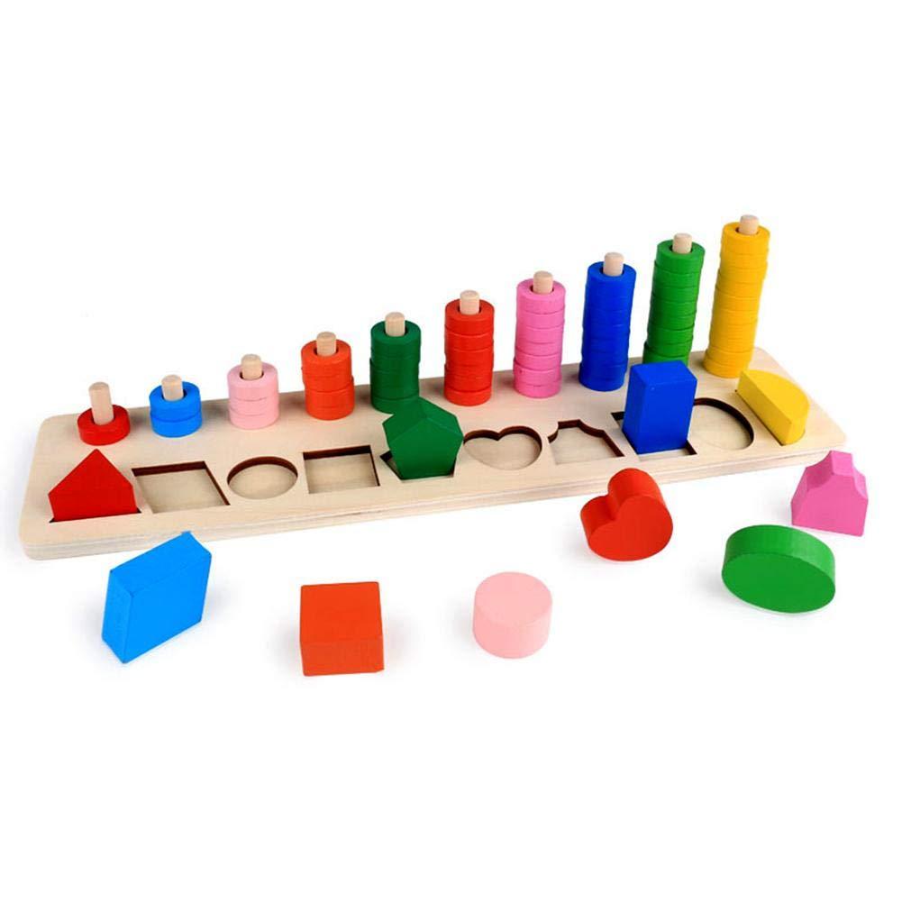 Kind Frü herziehung Spielzeug Montessori-Materialien Brief Aufklä rung Erkenntnis Bunt Holz Lernspielzeug Fü r Kinder unter 10 Jahren Globalqi