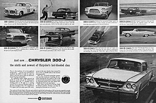 (1963 CHRYSLER 300-J 2-Door HARDTOP with past 300-Letter Series Cars